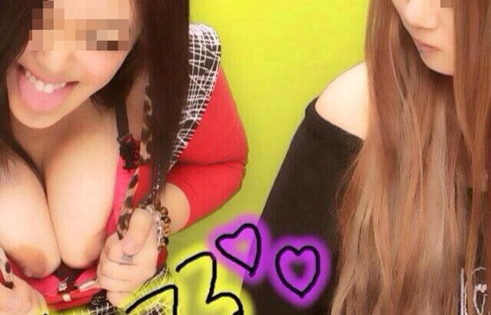 【エロプリ流出】痛いけどエロいwww十代女子がフザけて色んなものを見せてるエロプリ写真