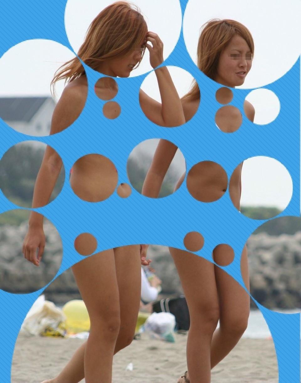 【水着画像】水玉コラは素人の水着姿でも抜群のエロさを発揮しますwww 02