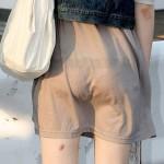 【透けパンエロ画像】Tバック透けすぎて丸分かりwチラ見えする以前にエロすぎな素人女性たちwww