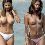 【海外エロ画像】是非持ち帰ってナニしてやりたい丸出し乳wビーチの目立ちすぎトップレス美女www