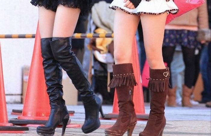 (美足えろ写真)ブーツでもイケる☆ニーソに十分匹敵する絶対領域を街で発見wwwwww