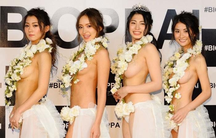 【美乳エロ画像】日本でこんなイベントが!?美乳揃いのオッパイグランプリwww
