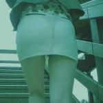 【パンチラエロ画像】色以外は下着を把握w赤外線にかかれば何もかもお見通し!