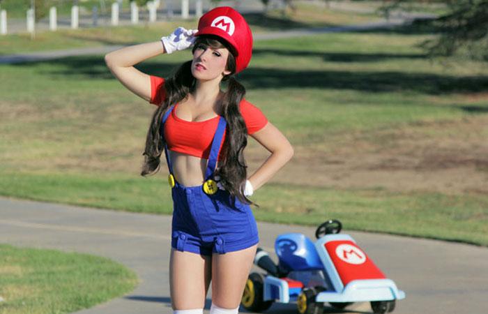【コスプレエロ画像】キノコ食べたらある意味パワーアップしそうなマリオ美女www