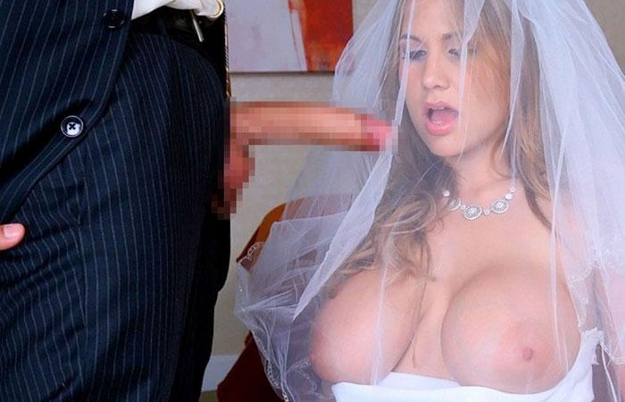 【海外エロ画像】相手は新郎ではないらしいw花嫁衣裳でやらかす新婦たちwww