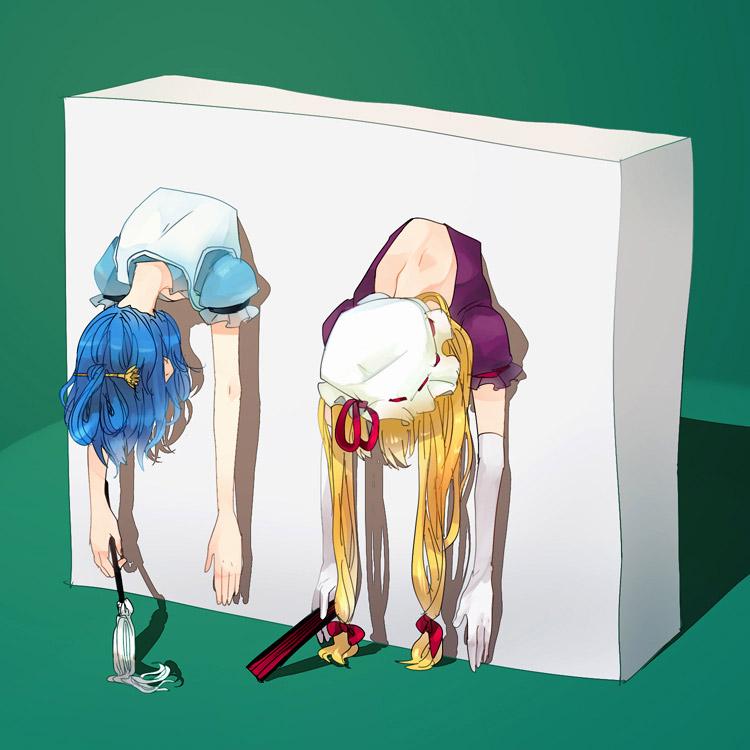 【壁尻エロ画像】エレベーターのアレよりも絶望的な壁を突き破って固定された女の子たちwww