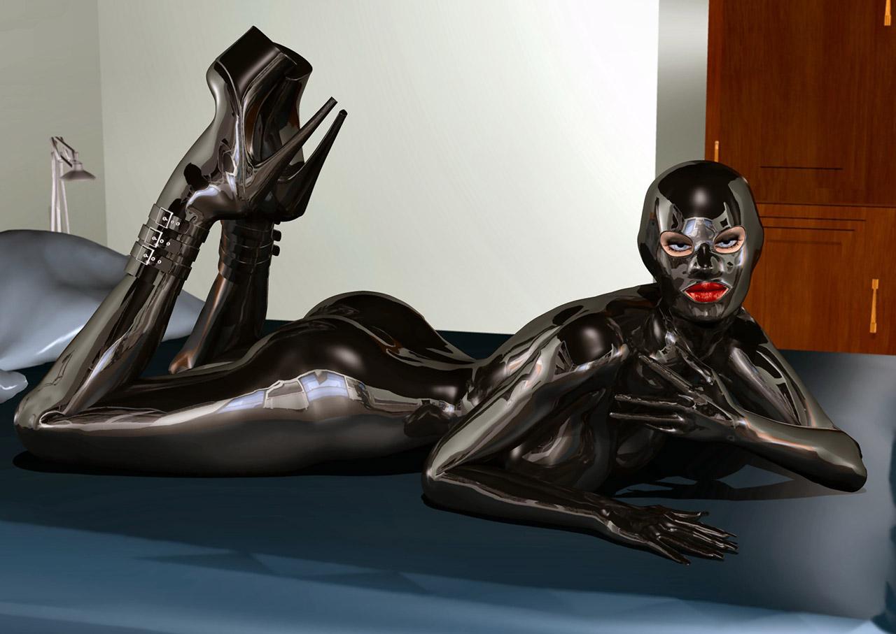 【ラバーエロ画像】ラバースーツとか全身ラバーとかピッチリ系のコスチュームが好きな人に捧ぐ!