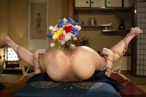 【SMエロ画像】昔の拷問っぽくて酷w着物姿の女性を緊縛して徹底調教www